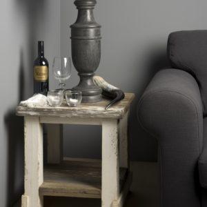 Daan Hoektafel Vintage-look 50x50 cm