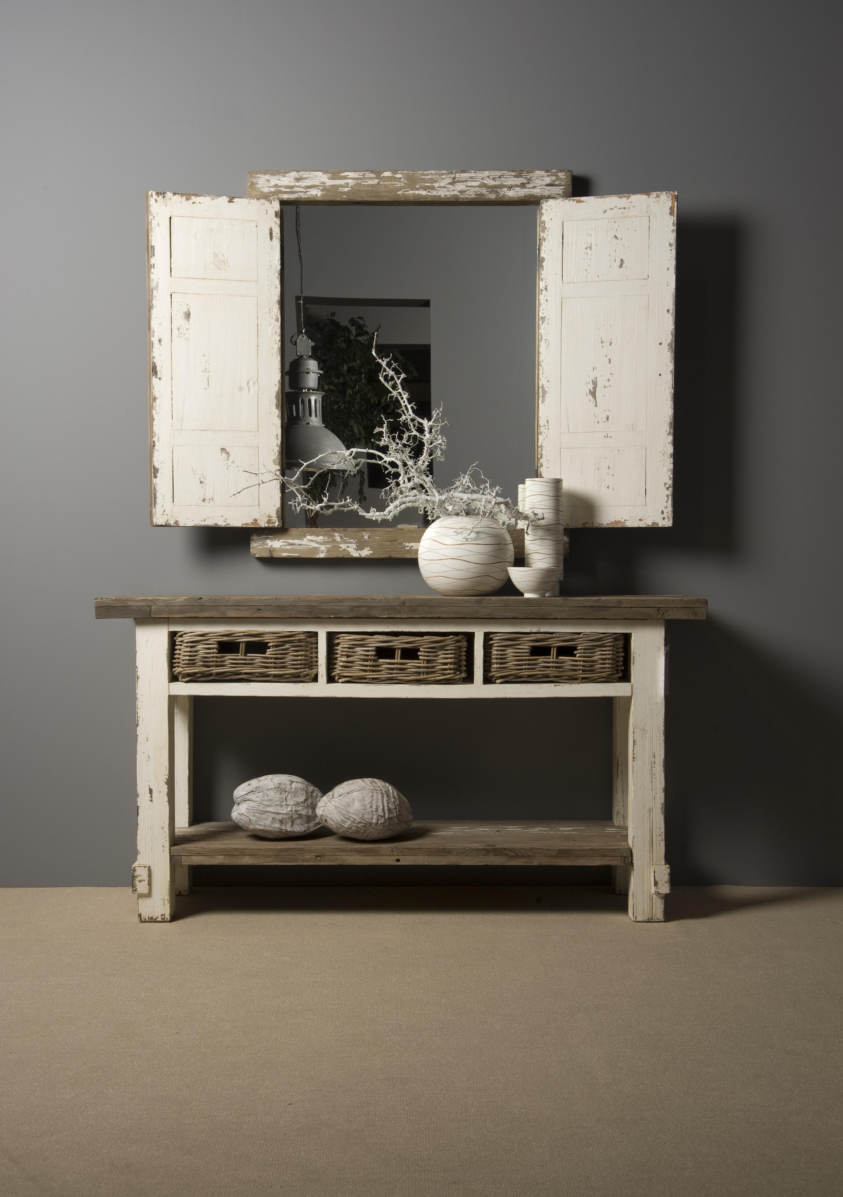 daan spiegel vintage look 86 cm markus john. Black Bedroom Furniture Sets. Home Design Ideas
