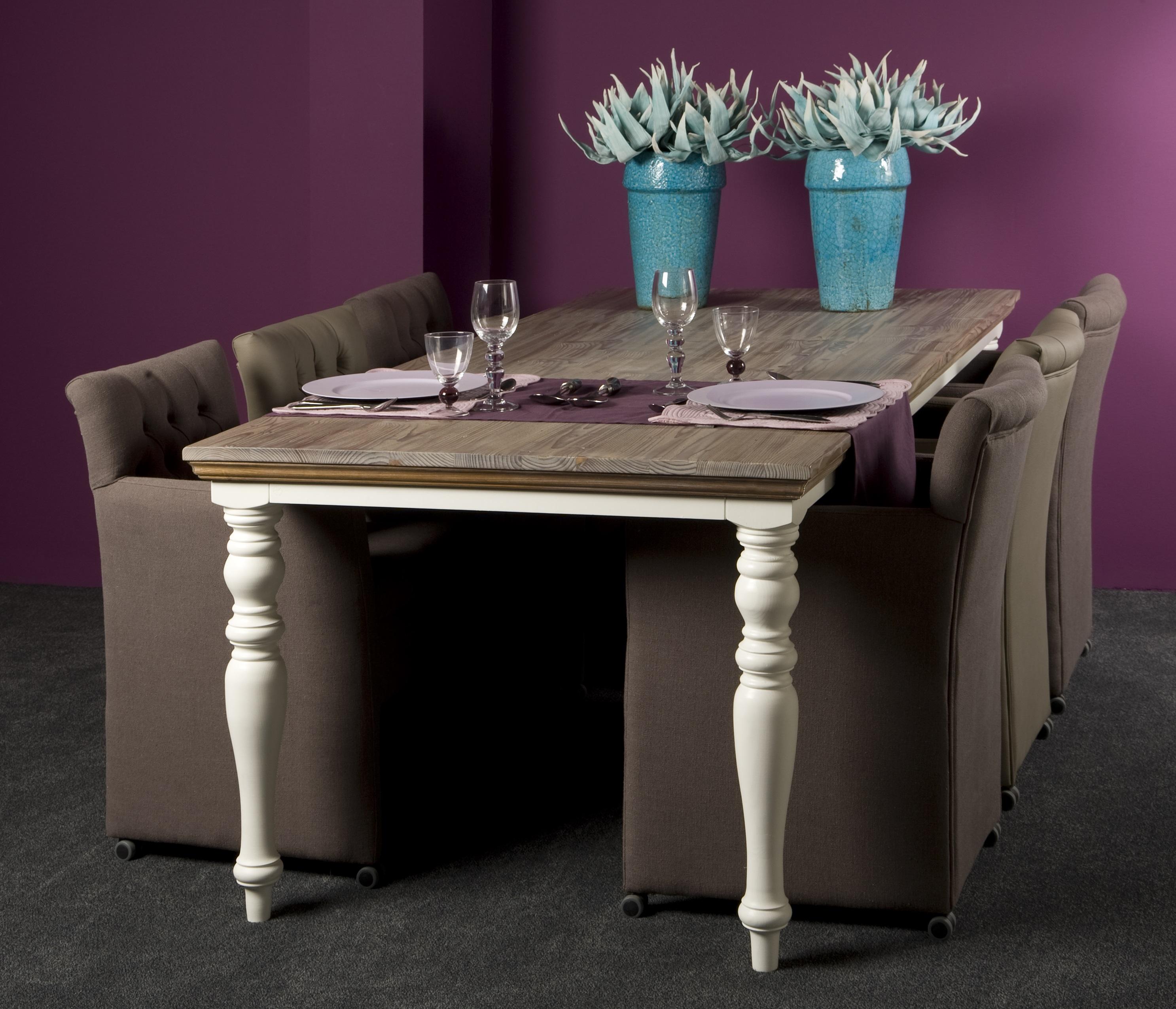 Markus john fleur eettafel landelijk 180cm for Eettafel stoelen landelijk
