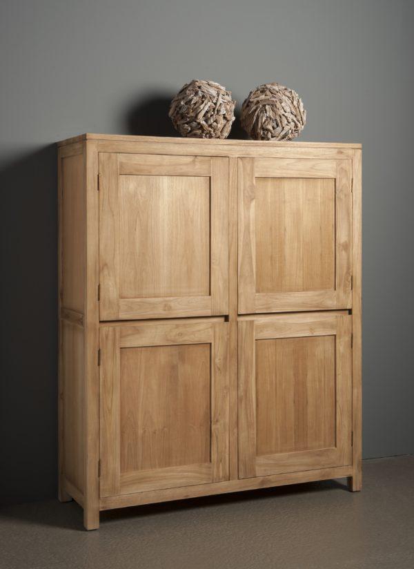 Leeds Cabinet Teak Natural 130cm