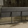 Chester eetkamerbank staal met stof