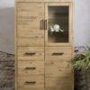 Bolton Cabinetkast Acasia Industrieel 3 deuren 112cm