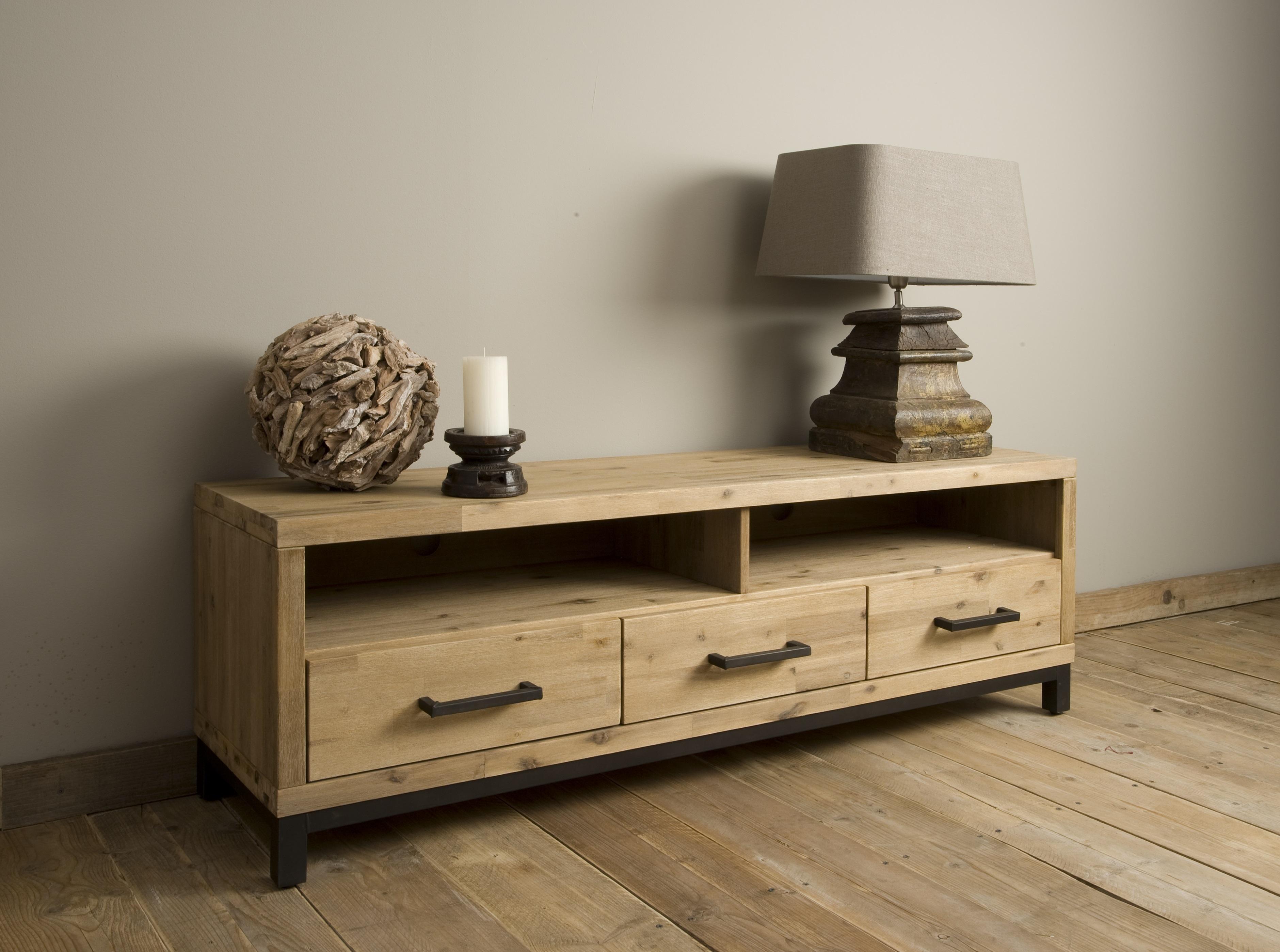 Markus john bolton tv meubel acasia industrieel 162 cm for Meubels industrieel