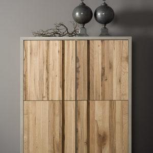 Preston Cabinetkast Beton Eikenhout 130 cm