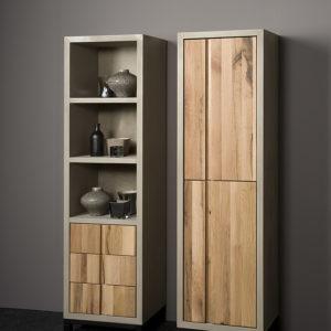 Preston Cabinetkast Small Beton Eikenhout 50 cm