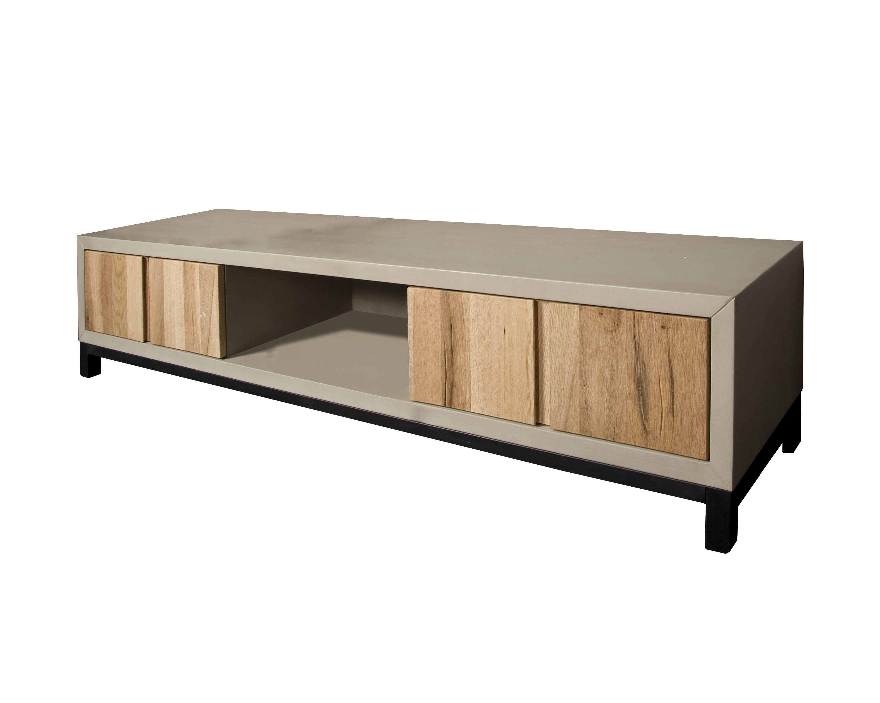 preston tv meubel beton eikenhout 180 cm markus john. Black Bedroom Furniture Sets. Home Design Ideas