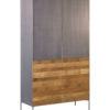 Aberdeen Cabinet Staal Teakhout 4 Deuren 110 cm