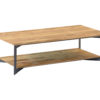 Aberdeen Coffee table Staal Teakhout 100x100 cm