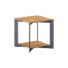 Aberdeen end table Staal Teakhout 50x50 cm