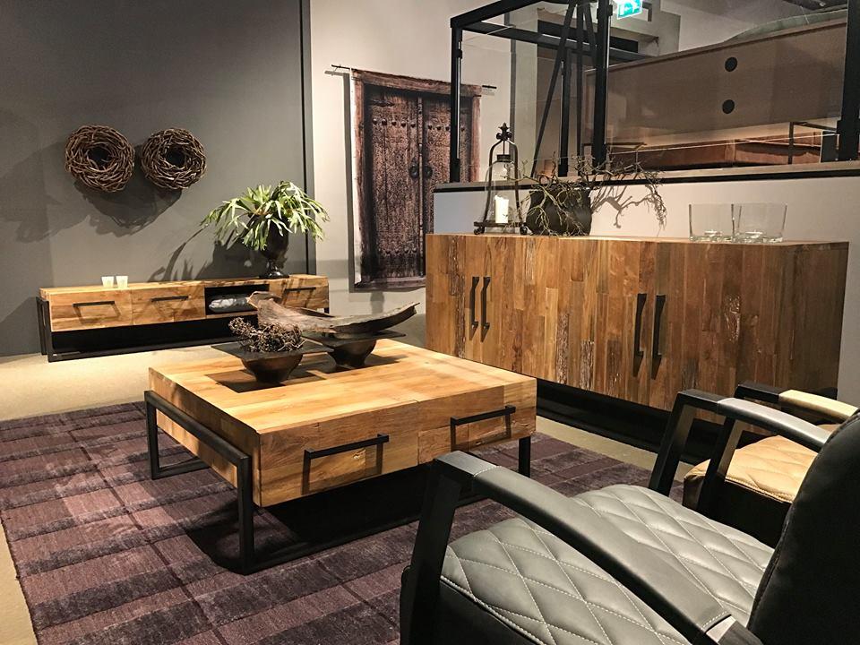 Tv Kast Industrieel : Byron tv meubel industrieel teak 150 cm markus john