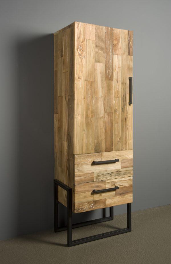 Byron Cabinet Industrieel Teak Rechts 66 cm