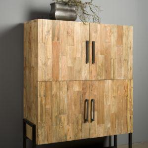 Byron Cabinetkast Industrieel Teak 130 cm