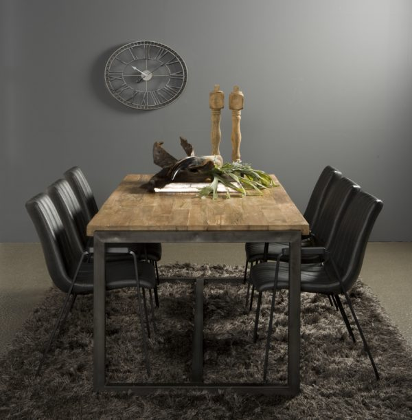 Byron Dinning Table Industrieel Teak 210 cm