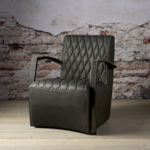 Coffee-chair Max Leer Vintage Antraciet