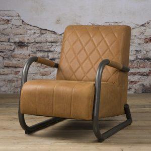 Ranche Coffee-chair echt Leer Staal Rust