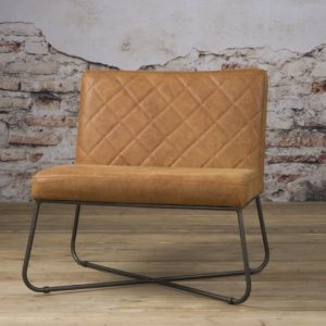 Rodeo Coffee-chair echt Leder Rust