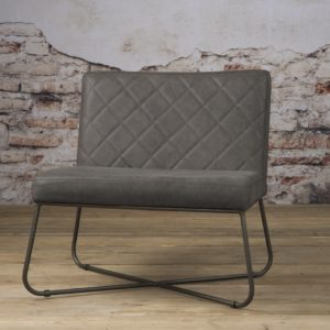 Rodeo Coffee-chair echt Leder Stone