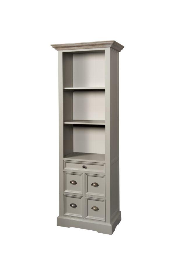 Fleur Boekenkast Grey Wit Landelijk 66cm