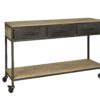 Iron Console Table 3 Lades Mango Hout 148cm
