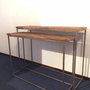 Donna Console Table set van 2 stuks gerecycled hout
