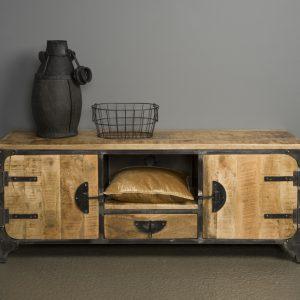 Praag Tv meubel Metaal mango hout Bruin 2 deurs 150cm