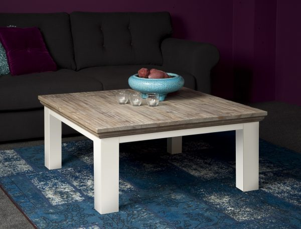 Fleur salontafel landelijk Blokpoot 100x100cm