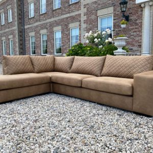Loungebank Alean 3 zits met Lounge Arizona Leder Pepper