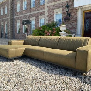 Loungebank Parijs Retro Industrieel Moss Groen