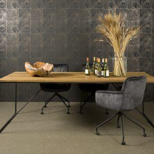 Fraija Table Recycled Teakhout Met Stalen Frame 180cm