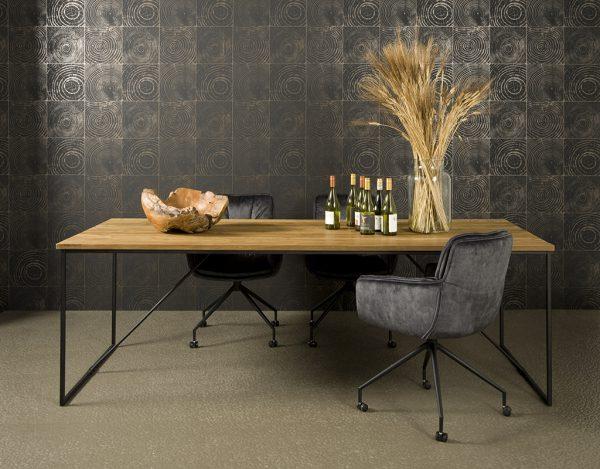 Fraija Table Recycled Teakhout Met Stalen Frame 220m