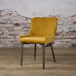 Eetkamerstoel Oledo fabric Bluvel 68 yellow